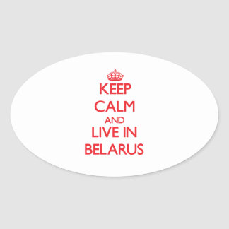Keep Calm and live in Belarus Sticker