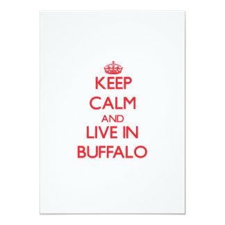 Keep Calm and Live in Buffalo 13 Cm X 18 Cm Invitation Card