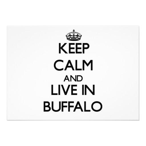 Keep Calm and live in Buffalo Invitation