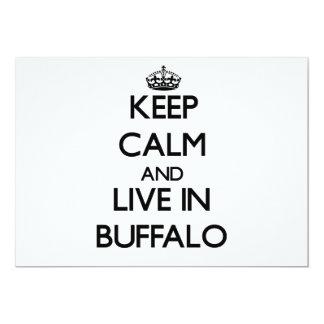 "Keep Calm and live in Buffalo 5"" X 7"" Invitation Card"