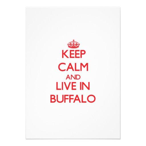 Keep Calm and Live in Buffalo Custom Announcements