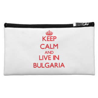 Keep Calm and live in Bulgaria Cosmetic Bag