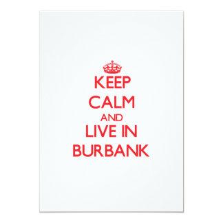 Keep Calm and Live in Burbank 13 Cm X 18 Cm Invitation Card