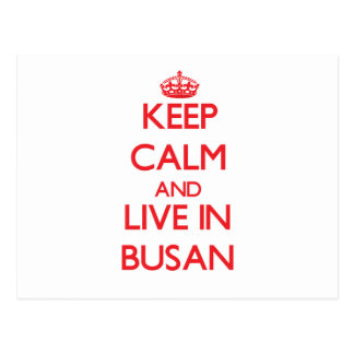 Keep Calm and Live in Busan Postcards