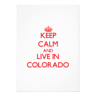 Keep Calm and live in Colorado Cards