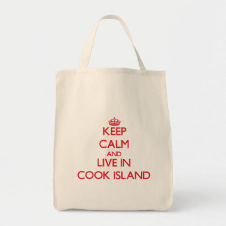 Keep Calm and live in Cook Island Grocery Tote Bag