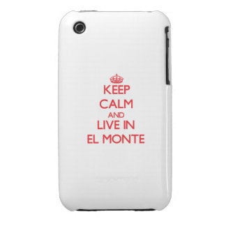 Keep Calm and Live in El Monte Case-Mate iPhone 3 Case