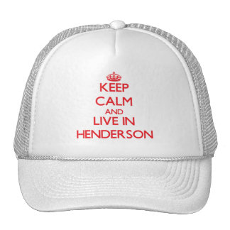 Keep Calm and Live in Henderson Mesh Hats