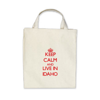 Keep Calm and live in Idaho Bags