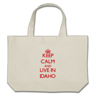 Keep Calm and live in Idaho Canvas Bag