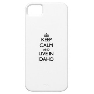 Keep Calm and Live In Idaho Case For The iPhone 5