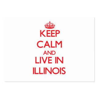 Keep Calm and live in Illinois Pack Of Chubby Business Cards