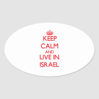 Keep Calm and live in Israel Oval Sticker