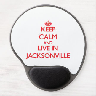 Keep Calm and Live in Jacksonville Gel Mouse Pad
