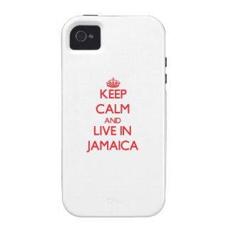 Keep Calm and live in Jamaica iPhone 4 Cases