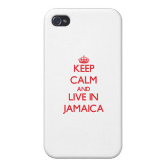 Keep Calm and live in Jamaica iPhone 4/4S Case