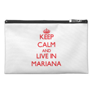 Keep Calm and live in Mariana Travel Accessory Bag