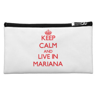 Keep Calm and live in Mariana Cosmetic Bag