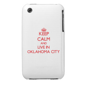 Keep Calm and Live in Oklahoma City iPhone 3 Case-Mate Cases
