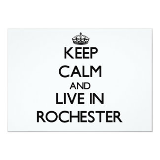 Keep Calm and live in Rochester Personalized Invitations