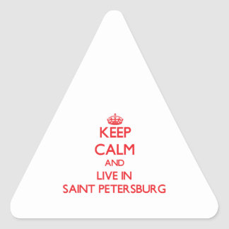 Keep Calm and Live in Saint Petersburg Sticker