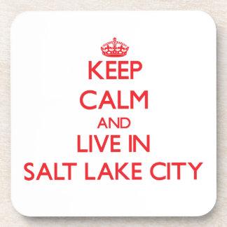 Keep Calm and Live in Salt Lake City Coasters