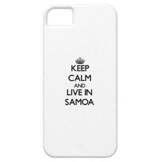 Keep Calm and Live In Samoa iPhone 5 Case