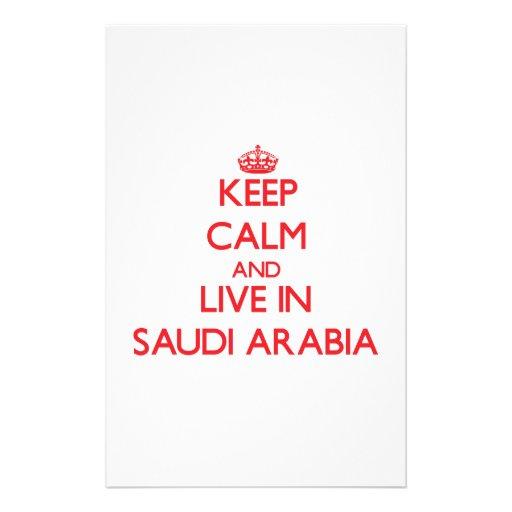 Keep Calm and live in Saudi Arabia Custom Stationery