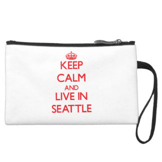 Keep Calm and Live in Seattle Wristlet Purse