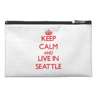 Keep Calm and Live in Seattle Travel Accessories Bags