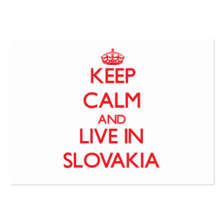 Keep Calm and live in Slovakia Pack Of Chubby Business Cards