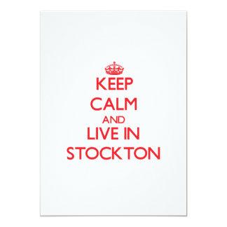 Keep Calm and Live in Stockton 13 Cm X 18 Cm Invitation Card
