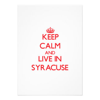 Keep Calm and Live in Syracuse Announcement