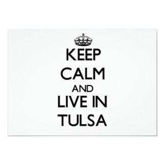 Keep Calm and live in Tulsa 13 Cm X 18 Cm Invitation Card