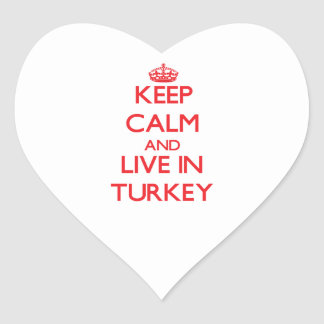 Keep Calm and live in Turkey Stickers