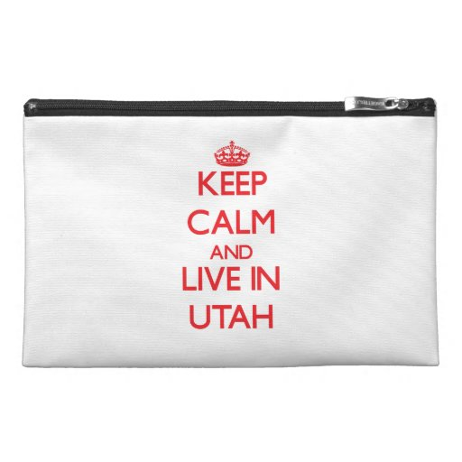 Keep Calm and live in Utah Travel Accessory Bag