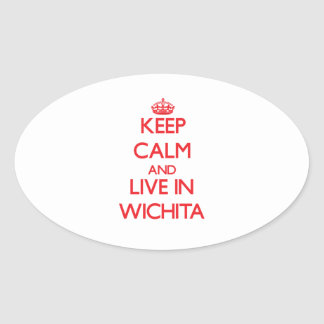 Keep Calm and Live in Wichita Stickers