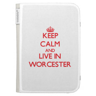 Keep Calm and Live in Worcester Kindle 3 Case