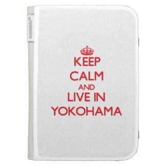 Keep Calm and Live in Yokohama Kindle Keyboard Cases