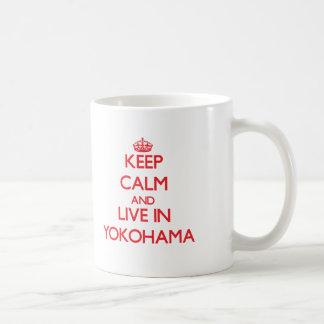 Keep Calm and Live in Yokohama Coffee Mugs