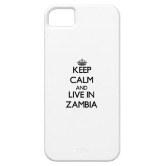 Keep Calm and Live In Zambia iPhone 5 Case