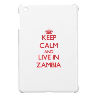 Keep Calm and live in Zambia iPad Mini Covers