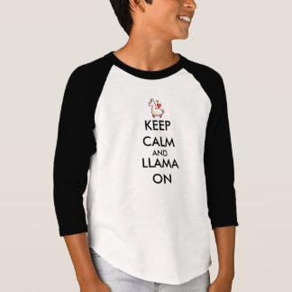 Keep Calm and Llama On T-Shirt