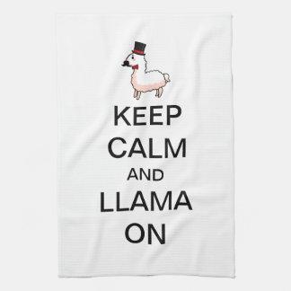 Keep Calm and Llama On Towels