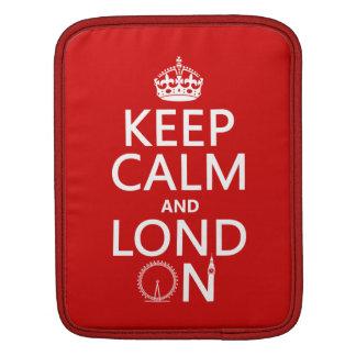 Keep Calm and Lond On (London) iPad Sleeve