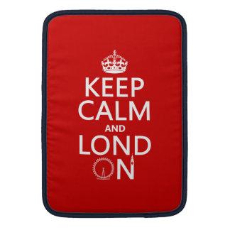 Keep Calm and Lond On (London) MacBook Sleeve