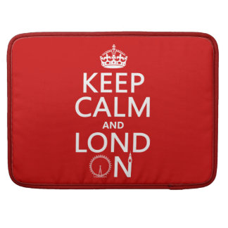 Keep Calm and Lond On (London) Sleeve For MacBooks