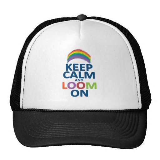 KEEP CALM AND LOOM ON RAINBOW HATS