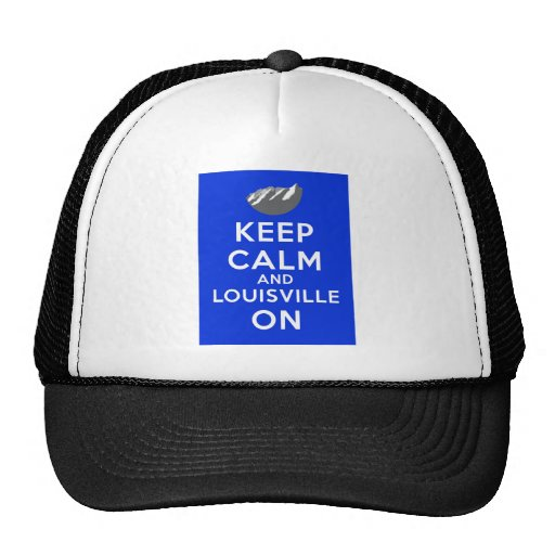 Keep Calm and Louisville On, Louisville, Colorado Mesh Hat