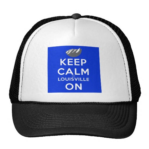 Keep Calm and Louisville On Louisville, Colorado Mesh Hat